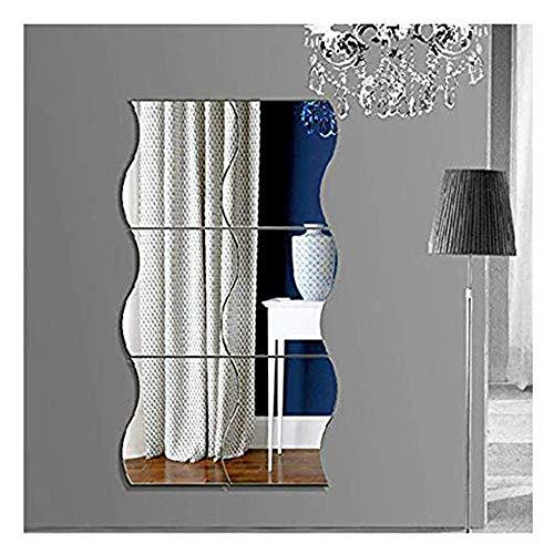 Tefamore DIY Pegatinas de Pared de Vinilo Removible Etiqueta de la Pared Hogar Ondulación Pegatinas de pared Espejo Decoración de la Sala de Arte