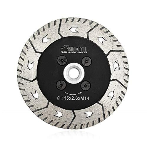 SHDIATOOL Disco Diamantato 115mm con Lama Doppia per Tagliare e Macinare Calcestruzzo Marmo Granito