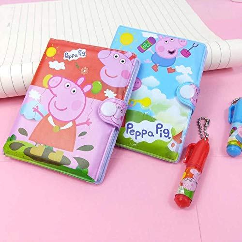 KIDOS JOY™ Cute Funky Pocket Diary with Pen for Kids/ Birthday Return Gift , Party Favor / Best Gifting Option for Small Kids (Pack- 2)