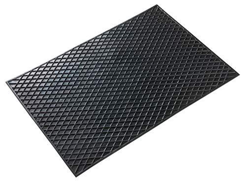 Walser Gummimatte Rechteck 70x50 cm schwarz