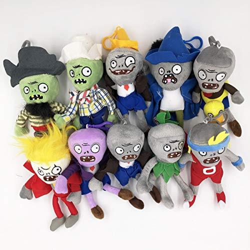 TavasHome Plants vs Zombies Plush Toys, 10 Pack, Mini 6'' PVZ Baby Hanging Plush Dolls Toys Figures Playset