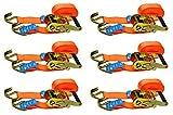 Red Tools Spanngurt Ratschenspanngurt 6 Meter Lang 35 mm Lang bis zu 2 Tonnen im 6 TLG. Set...