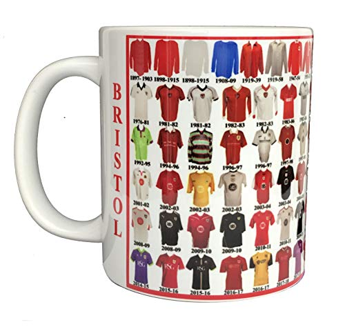 Bristol City Mug Bristol Shirt History Mug Ceramic Mug Football Mug Shirts Through The Ages