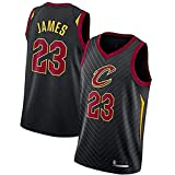 DIMOCHEN Movement Ropa Jerseys de Baloncesto para Hombres, NBA Cleveland Cavaliers 23# Lebron James, Fresco, cómodo, Camiseta Uniformes Deportivos Tops(Size:L,Color:G1)