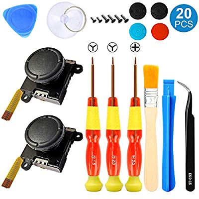 Two Pack Analog 3D Joy con Joystick Replacement for Nintendo Switch,joycon Switch joysticks compatiable with Right Switch Joycon , Controller Full NS Repair Tool Set