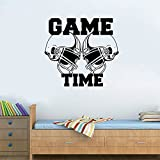 WOCACHI Wall Stickers Decals American Football Helmets Gametime Sports Wall Sticker Vinyl Art Decor Decal Art Mural Wallpaper Peel & Stick Removable Room Decoration Nursery Decor