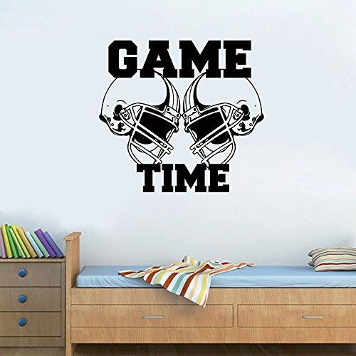 zhuziji Tiger Wall Stickers Peel,Sale Arrivalfootball Helmet Match Time Sports Deco Applique #Dq PVC Household Waterproof Children. Livin57x62cm