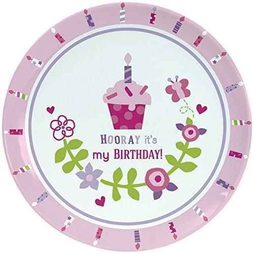 "C.R. Gibson Porcelain Cake Plate, By Gibby & Libby, Smash Cake, Birthday Celebration Plate, Dishwasher Safe, Plate Measures 8"" - Birthday Girl"