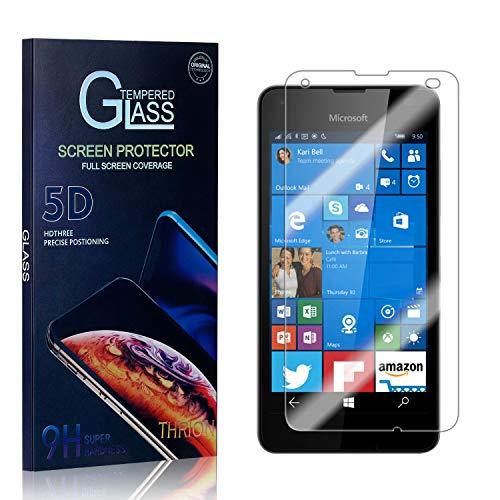 THRION Panzerglas Schutzfolie für Microsoft Lumia 550, Anti-Bläschen, Anti-Kratzen, Bildschirmschutz Panzerglasfolie Folie für Microsoft Lumia 550, 1 Stück