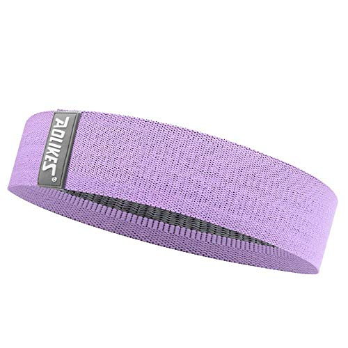 Pilates Resistance Band Unisex Booty Band Hip Circle Loop Resistance Band Workout Exercise For Legs Thigh Glute Butt Squat Bands Non-Slip Design Purplel