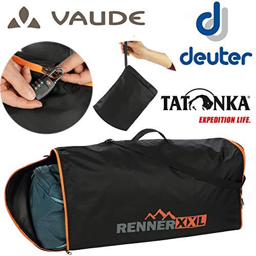 RENNER XXL Rucksack Flugzeug Schutz-Hülle - Flight Cover - Für Backpacker und Trekking-Rucksäcke 120 Liter