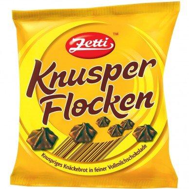 15 Beutel a 125g Zetti Knusperflocken Vollmilchschokolade mit Roggenknäckebrot