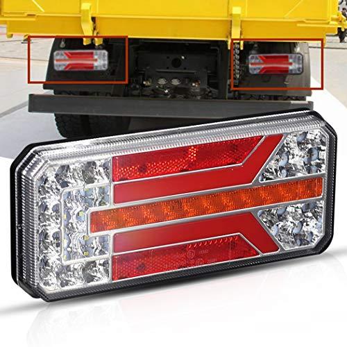 Barra di luce posteriore a LED, Mesllin Super Bright 12V 24V Indicatore di direzione Luce di stop inversa per pick-up camper Rimorchio camper, 1 pezzi