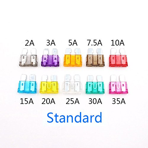 PerGrate 100 Stücke 3A-40A 10 Modell Auto Auto Sicherung mit Box Auto Standard Klingen Sicherung Sortiment Kit