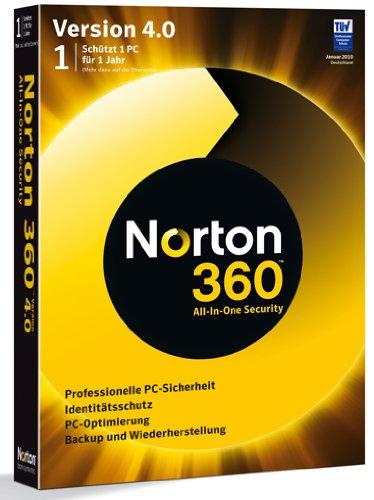 Norton 360 V4.0 1 Benutzer - deutsch [import allemand]