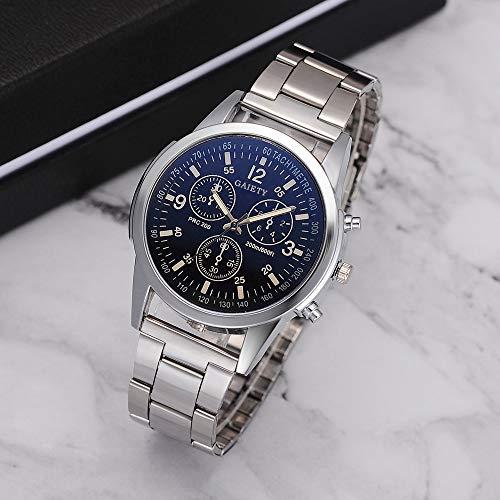JieGREAT Relojes Gaiety Moda Hombre cinturón de Acero analógico Deporte de Cuarzo Reloj de Pulsera jieGREAT Negro