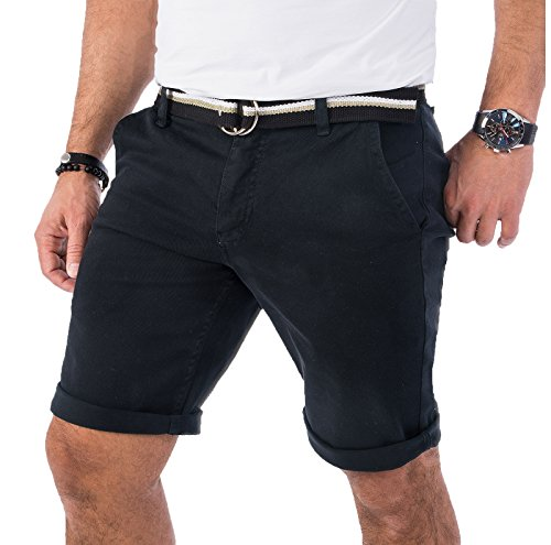 Rock Creek Herren Chino Shorts Hose Kurz Chinoshorts Inkl Gürtel Männer Sommer Bermuda Stretch Rc-2133 33 Anthrazit