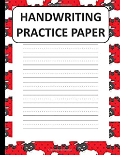 Handwriting Practice Paper: Handwriting Paper For Kids: ABC First writing  Blank Dotted Lined Sheets Notebook for K-3 Students ,120 pages, 8.5x11 Brown and White sheep Pattern
