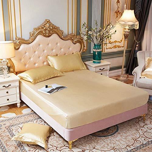 JKCTOPHOME Sábana bajeras Ajustable tamaños y Colores,Protector de colchón de sábana de Color sólido Simple-W_180 * 200 * 25cm,Banda elástica Sábana Ajustable
