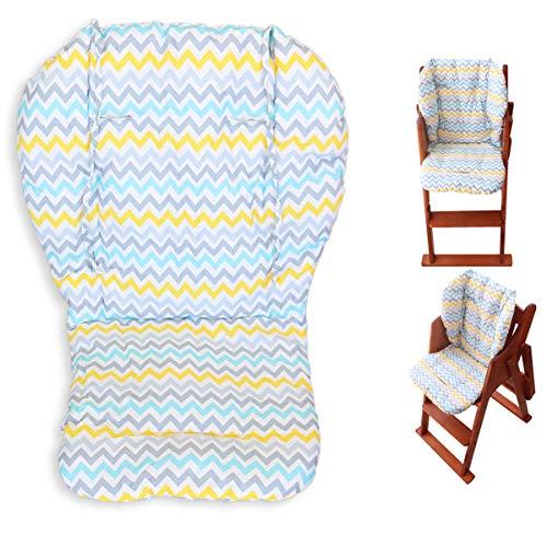 Cuscino per seggiolone, Amcho Passeggino/Seggiolone / Cuscino per seggiolino auto Pellicola protettiva Cuscino per seggiolone traspirante (foglie colorate)