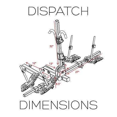Swagman 64684 Dispatch Platform Bike Rack - 2-Bike, Grey, 2'