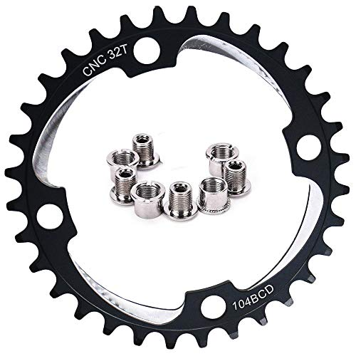 GANOPPER 36T Chainring Narrow Wide 104mm BCD Single Rings Road Bike Track Bike 9S 10S 11S Single Speed MTB Crank Set Chainrings 36 Tooth Red