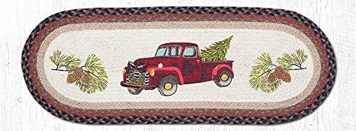 Red Christmas Truck Table Runner 13