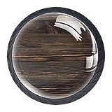Juego de 4 pomos de cristal para armarios con diseño múltiple de cajones para aparadores, armarios, mesita de noche, estantería de madera marrón vintage