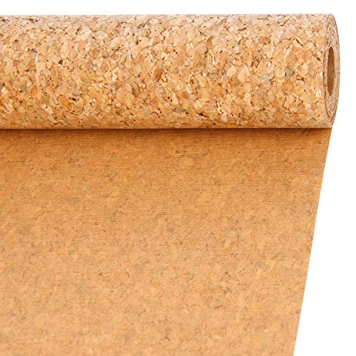 RUSPEPA 79/5000 30CM Wide Color Natural Cork Ribbon Fabric, 10 pies Cada Rollo