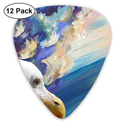 Plektrum 351 Form Klassische Gitarre Picks Seagull Art Painting Plektren Instrument Standard Bass 12er Pack