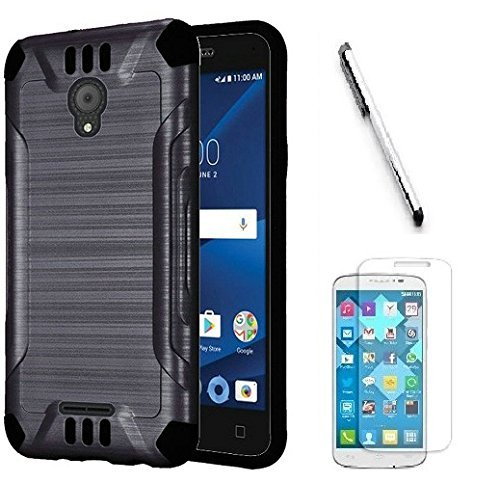 Black N4U Online/® Alcatel One Touch Evolve 2 PU Leather Horizontal Belt Pouch Holster Protective Case Cover Pouch With Secure Belt Clip Loop