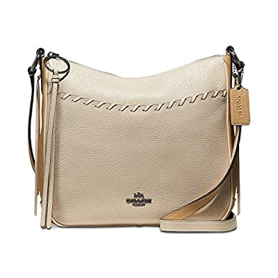 COACH Whipstitch Color Block Chaise Crossbody Ivory Multi/Gunmetal One Size