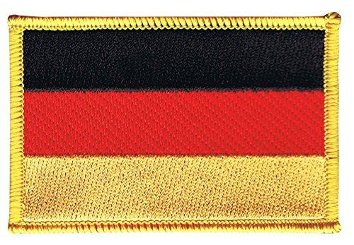 Flaggenfritze Flaggen Aufnäher Deutschland Fahne Patch + gratis Aufkleber