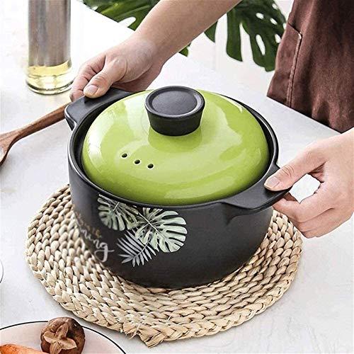 MotBach Pote Saludable Cocinar Pot Casseroles Casserole Platos Cerámica Clay Pot Casserole Platos para Abrir Firenonstick PANFOR Stare/Caldera/Hervir/Braise (Size : 4.5L)