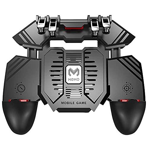 KALUO Gaming Durable PUGB Helper Handheld Grip Cooler para teléfonos Power Bank Pubg Trigger Juegos Accesorios Joystick Game Controller Gamepad (inserción recto)
