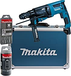 Makita combi hammer for SDS-Plus 26 mm in aluminum case, HR2631FT13