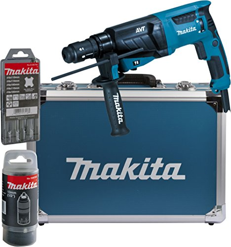 Makita HR2631FT13 Combihamer Voor SDS-Plus, 26 mm, Aluminium Koffer, Blauw