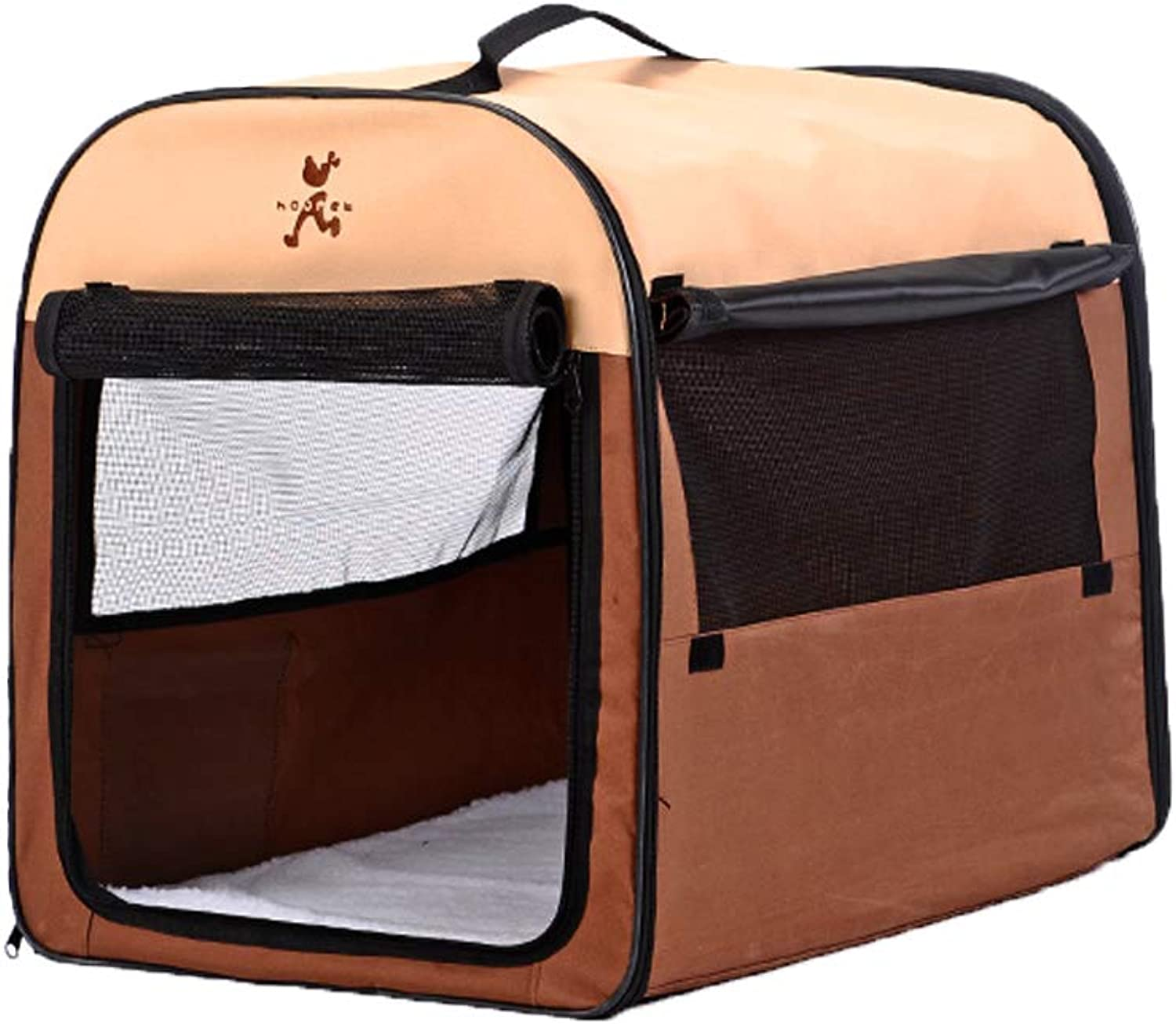Couch Pet Bed Small Large Dog Kennel Washable Winter Teddy Yurt Tent Cage Suitable for All Seasons Washable,Brown,S