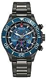 Swiss Military SM34223AEU/H04MS - Reloj de cuarzo para hombres con esfera azul y correa plateada de acero inoxidable