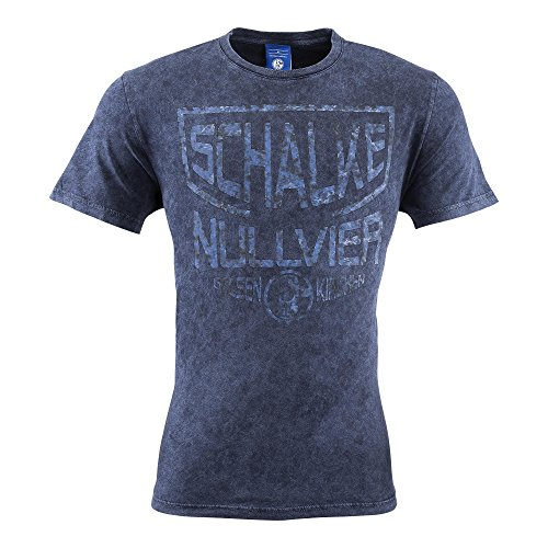 FC Schalke 04 Washer T-Shirt (M, blau)