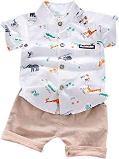 Zrom Baby Boys Clothing Set,1-4 Years Infant Baby Boys Clothes Set Gentle T-shirt Tops+Shorts Summer Outfits
