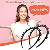 Frisur Haarnadel, Frisurenhilfe Haarreif mit Klammern, Haarreifen Baby Mädchen, Haarnadeln Friseurbedarf, Haarbänder für Frauen, Haarreifen Haarhalter Haarschmuck Haarband (2PC)