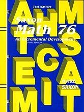Saxon Math 7 6 Test Masters: An Incremental Development (Saxon Math 7/6)