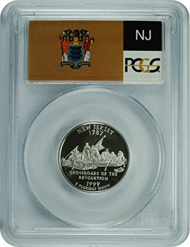 1999 S New Jersey Silver Statehood New Jersey Silver Statehood Quarter DCAM PCGS PR-69