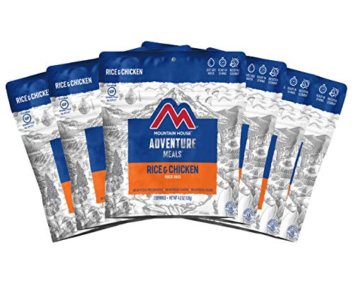 Mountain House Rice & Chicken | Freeze Dried Backpacking & Camping Food |6-Pack | Gluten-Free