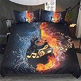 Funda Nórdica Music Dream Guitar140X200Cm Hipoalergénica Refrescante Polyester...