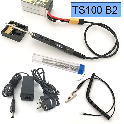 GoBuying TS100 Lötkolben Portable Soldering Iron Set with 24V Power Supply (B2 Tip)