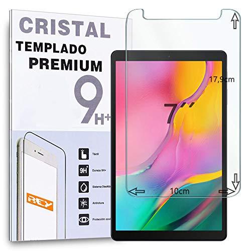 REY Protector de Pantalla para Universal 7', 7 Pulgadas, Cristal Vidrio Templado Premium