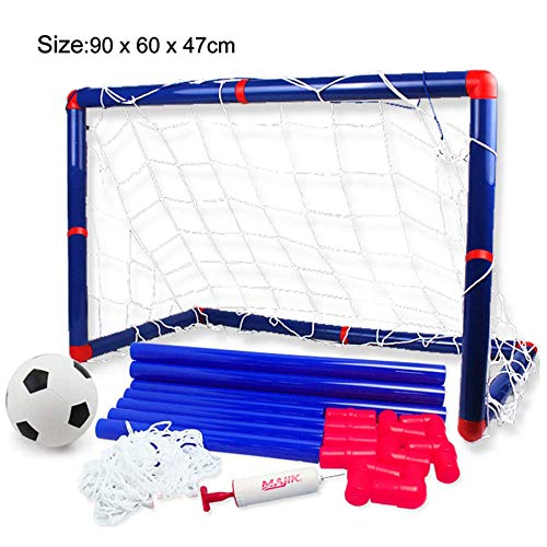 Georgie Porgy Portátil de Fútbol para Niños Goal Gate Baby Balón de Fútbol Bomba Deportes de Interior y al Aire Libre