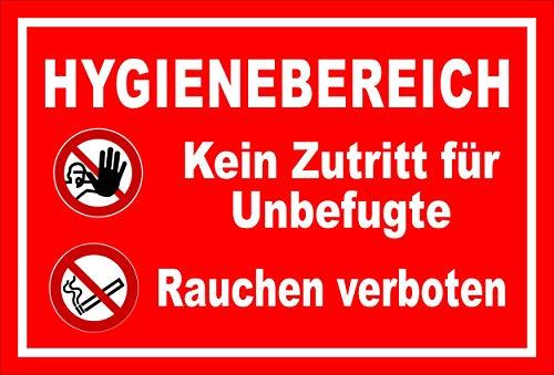 Melis Folienwerkstatt Schild Hygienebereich - 30x20cm - 3mm Hartschaum – 20 VAR S00225-007-D